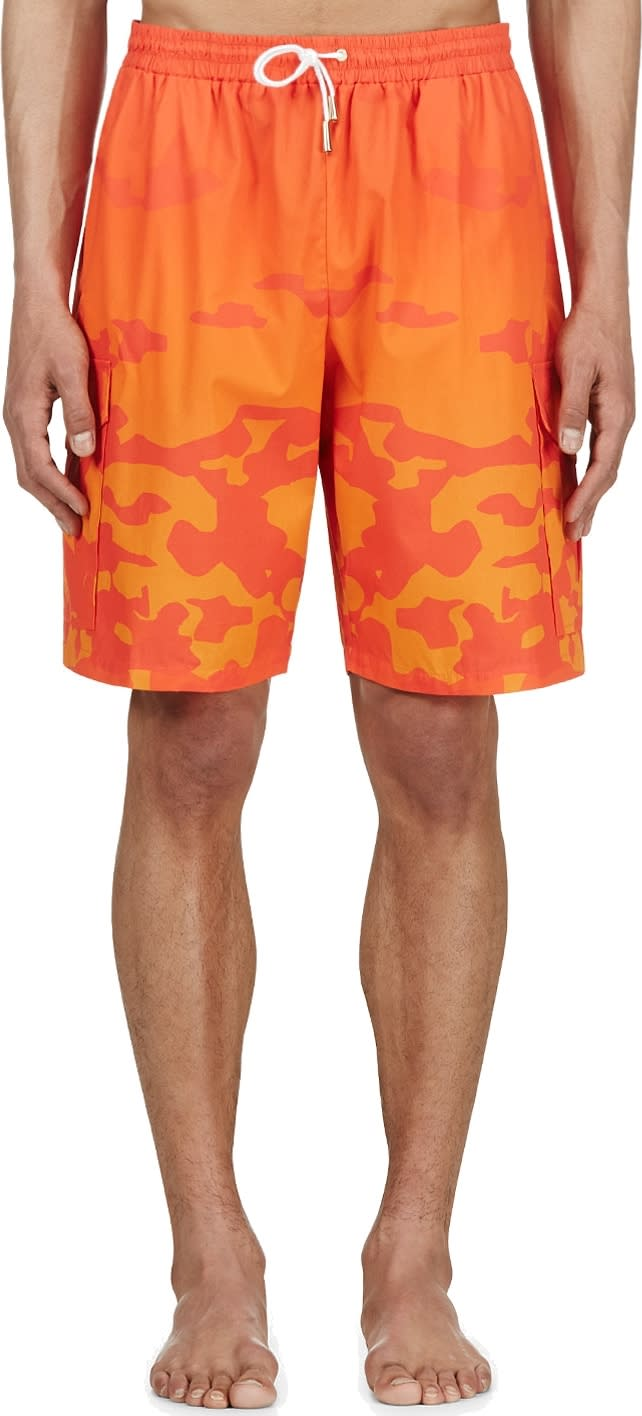 Katie Eary Orange Sunset Camo Swim Shorts
