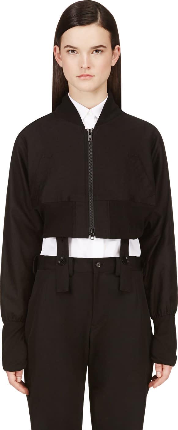 Yohji Yamamoto Black Dolman Sleeve Gather Jacket