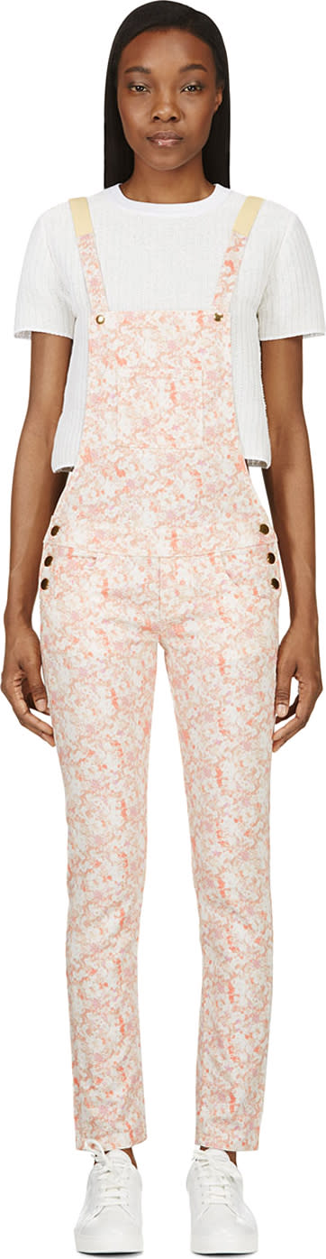Image of Roseanna Peach Floral Overalls
