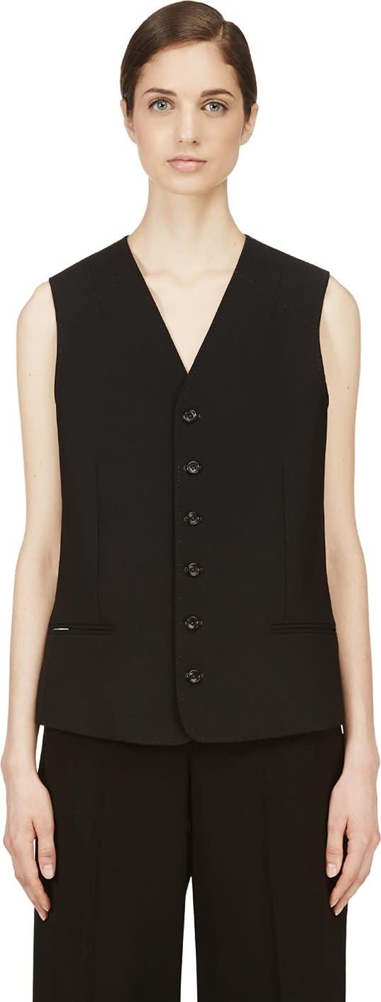 Nicolas Andreas Taralis Black Wool Vest