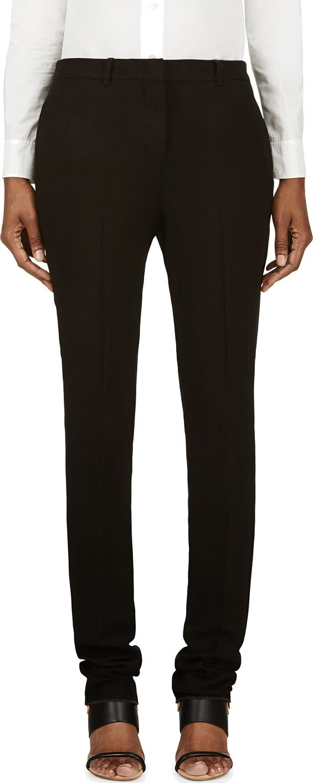 Nicolas Andreas Taralis Black Linen Classic Flat-front Trousers