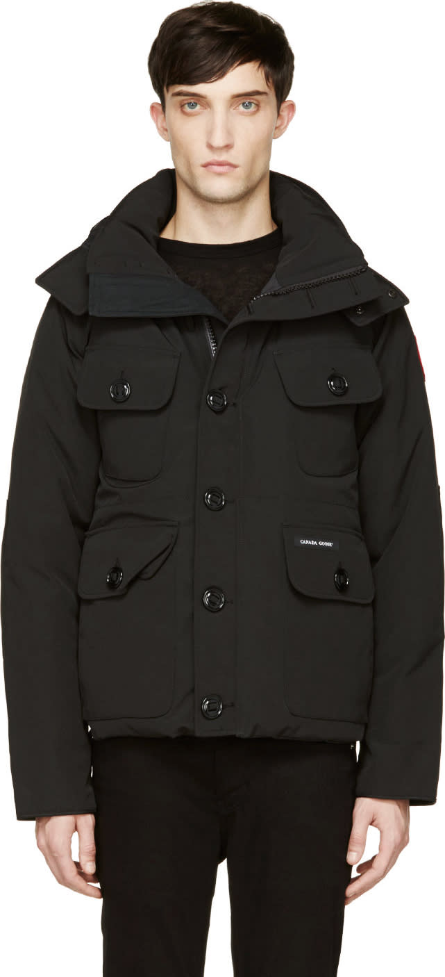 Canada Goose Black Down Selkirk Parka