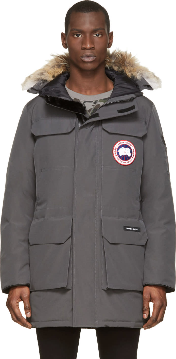 Canada Goose Grey Down and Fur Citadel Parka
