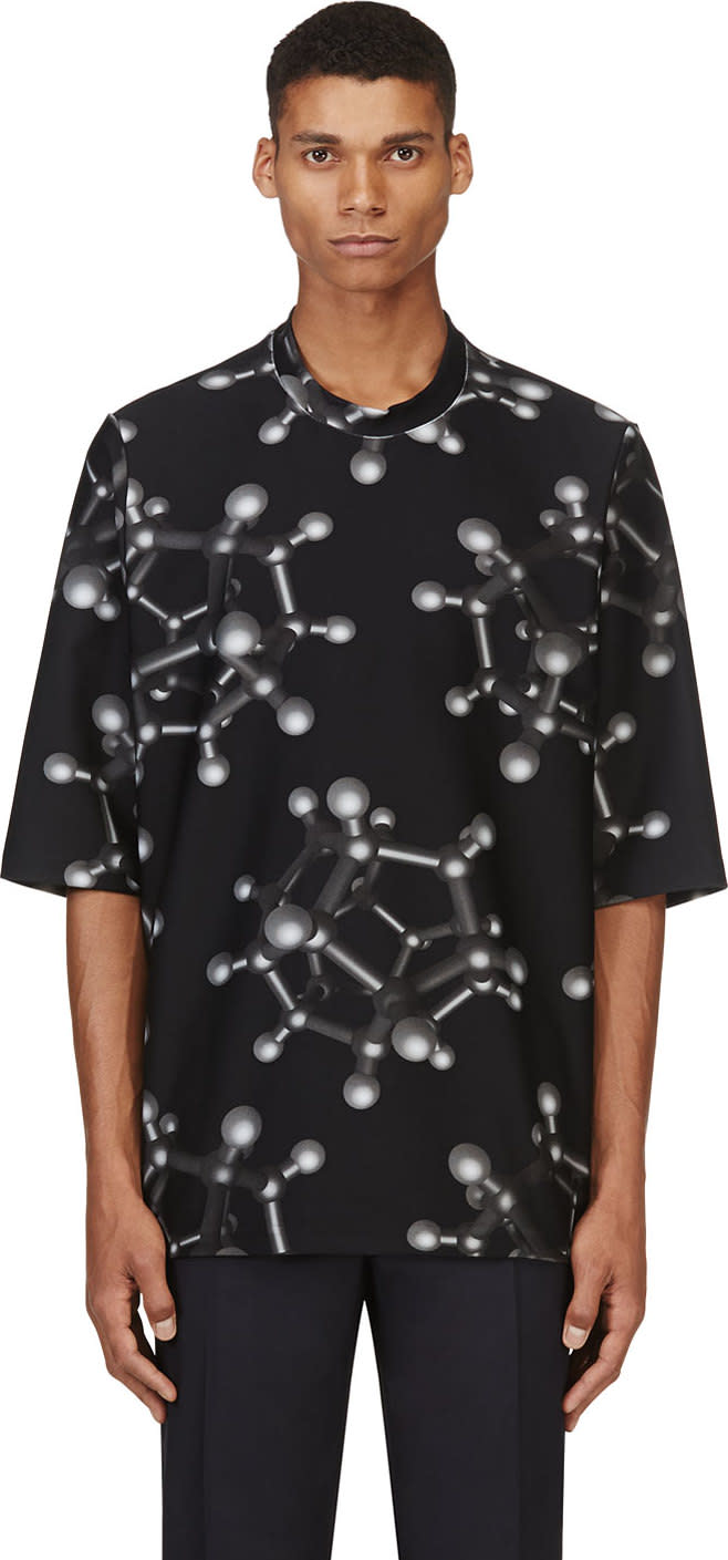 Christopher Kane Black Molecule Oversize T-shirt
