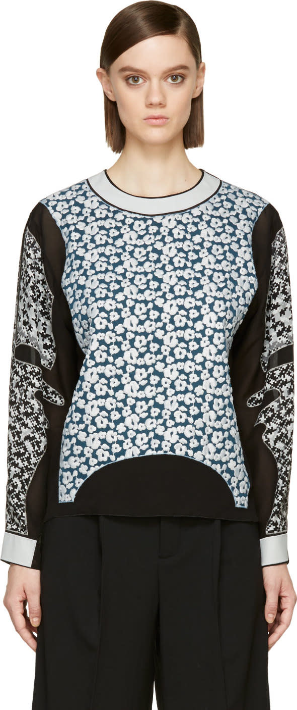 Viktor and Rolf Back Embroidered Panel Blouse