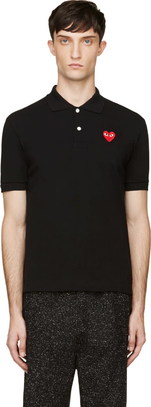 Comme Des Garçons Play Black Heart Logo Polo