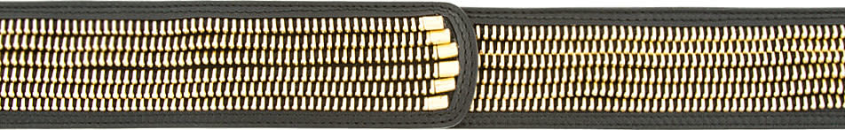 Alexander Mcqueen Black and Gold Zip Belt
