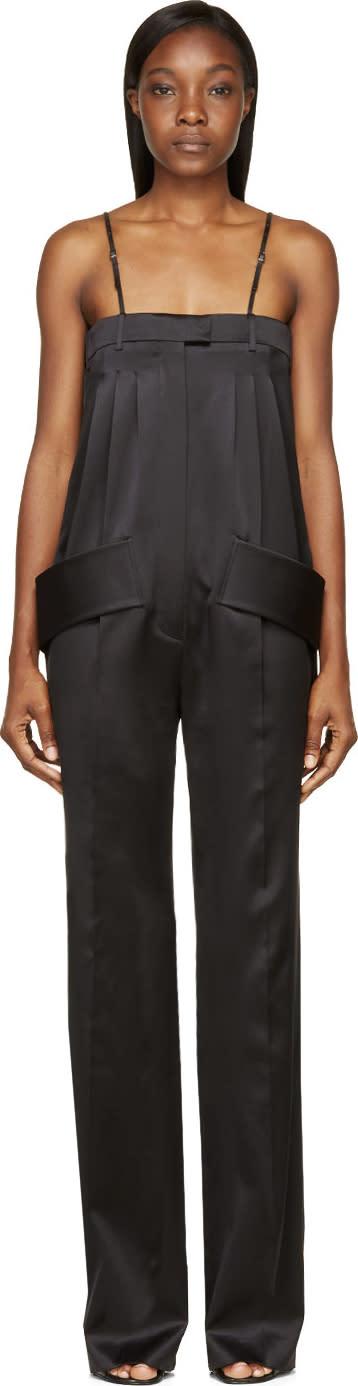 Givenchy Black Silk Trouser Jumpsuit