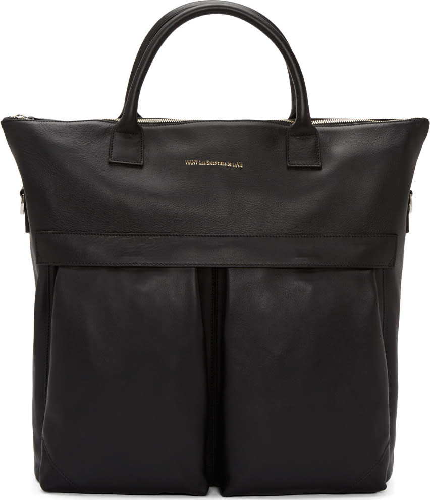 Want Les Essentiels Black Leather Ohare Shopper Tote