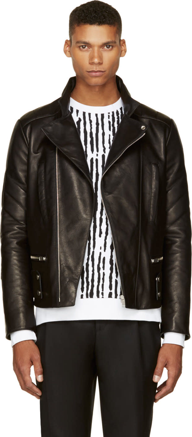 Balenciaga Black Leather Biker Jacket