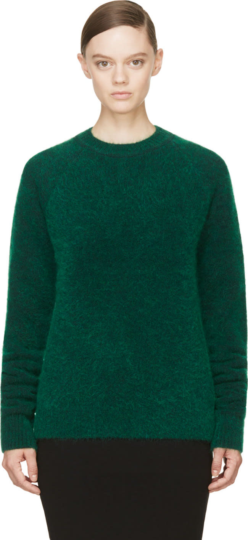 Juun.j Green Wool and Mohair Sweater