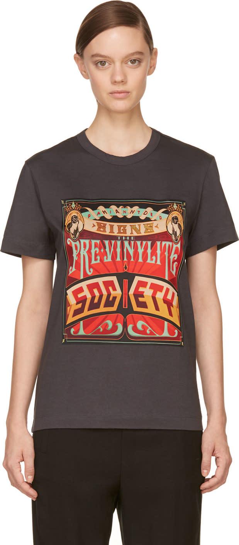 Juun.j Dark Grey the Pre-vinylite Society T-shirt