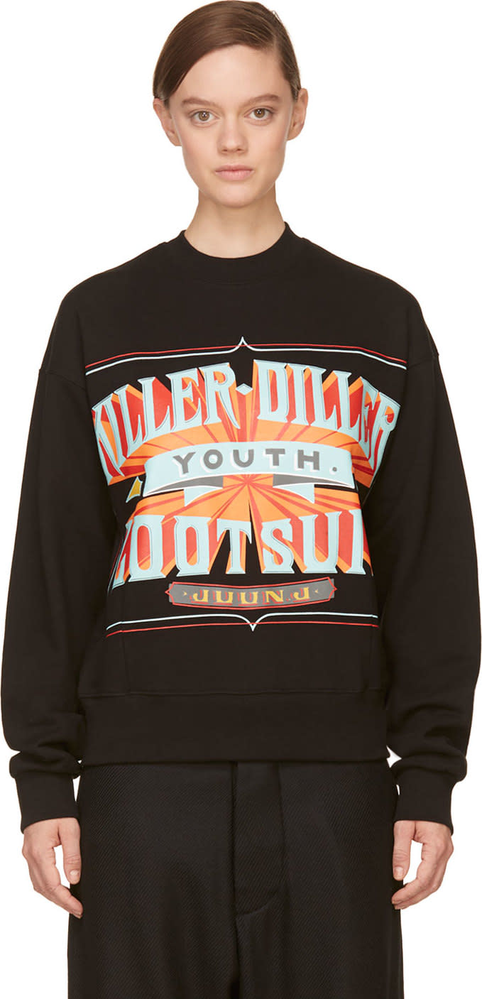 Juun.j Black Killer-diller New Era Edition Sweatshirt