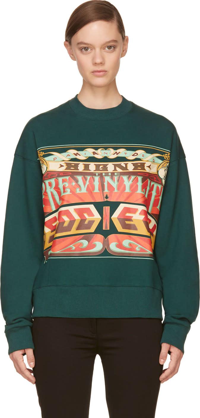 Juun.j Green the Pre-vinylite Society Sweatshirt