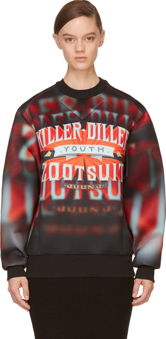 Juun.j Red killer Diller Neoprene Pullover