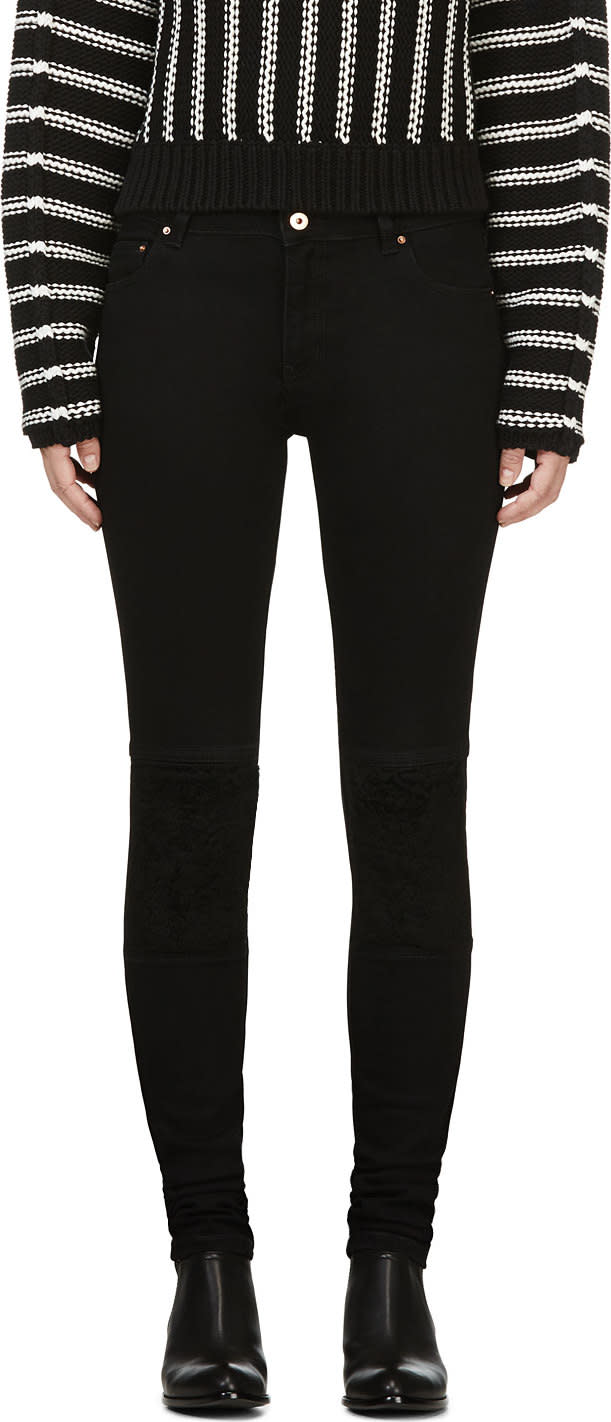 Avelon Black Neon Sheep Jeans
