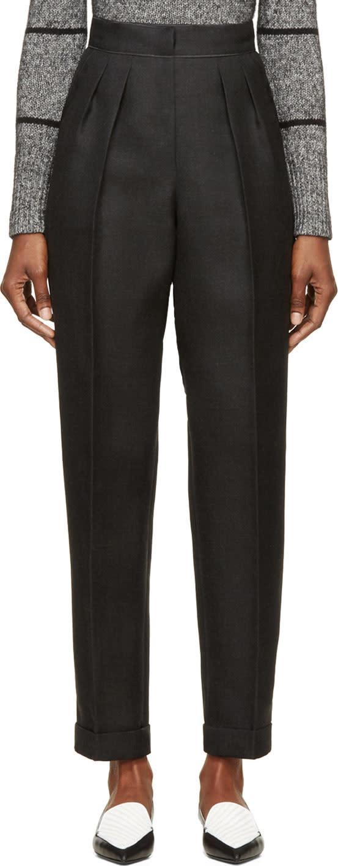 Roksanda Grey Wool Marre Trousers