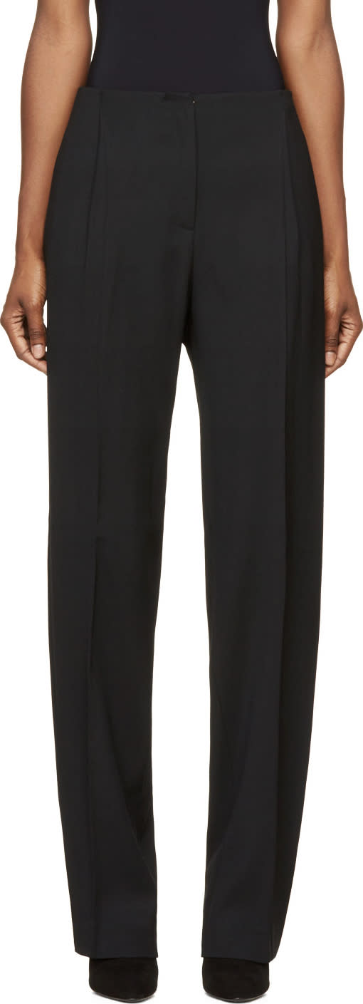 Cedric Charlier Black Wide-leg Trousers