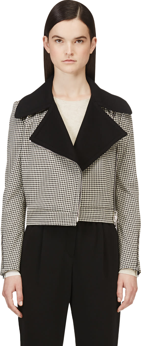 Stella Mccartney Black and White Houndstooth Jacket