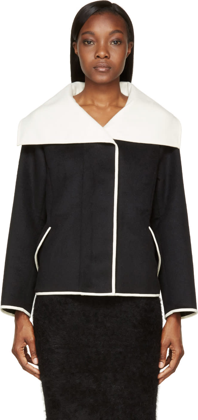 Nina Ricci Black Oversized Collar Jacket