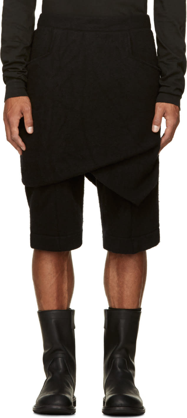 Thamanyah Wool Knit Razor Shorts