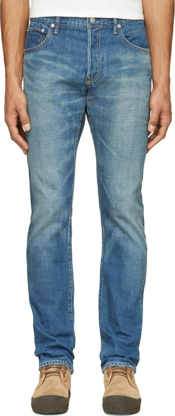 Visvim Blue Distressed Social Sculpture Jeans