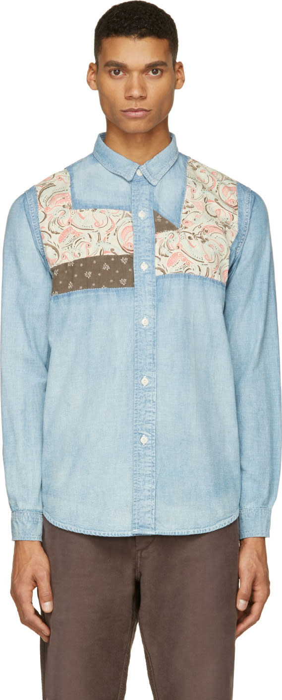 Visvim Blue Faded Granger Chambray Shirt