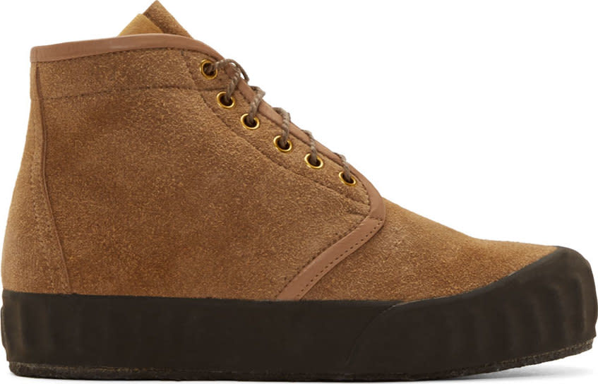 Visvim Brown Suede Ludlam Hi-folk Boots