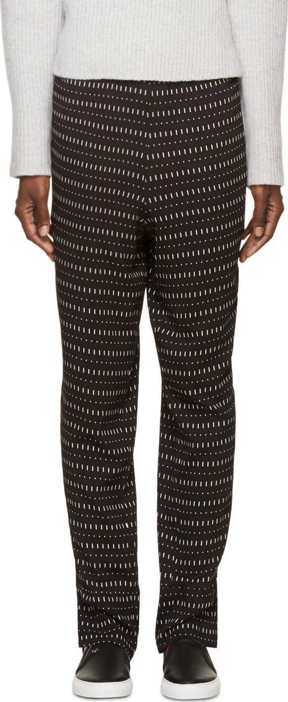 Image of Costume National Black Printed Trousers