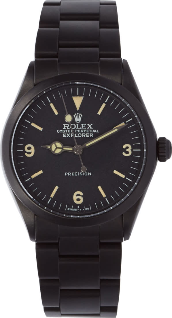 Image of Black Limited Edition Matte Black Limited Edition Rolex Oyster Perpetual Explorer