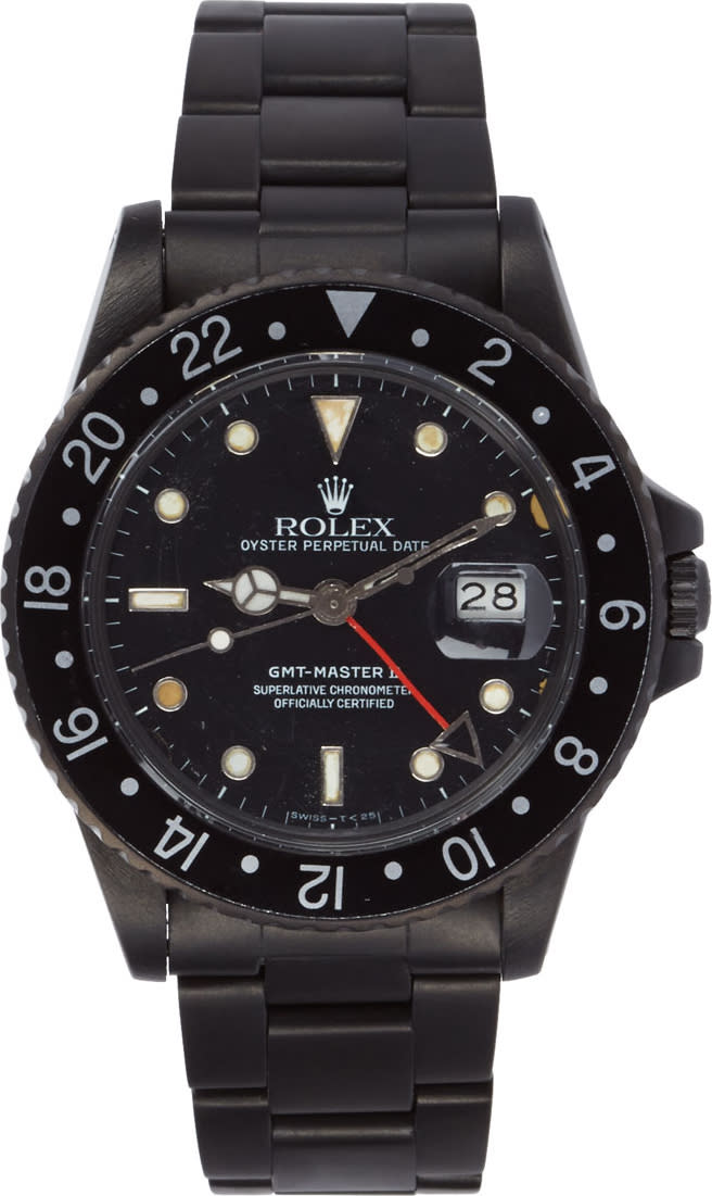 Image of Black Limited Edition Matte Black Limited Edition Rolex Gmt Master Ii Watch