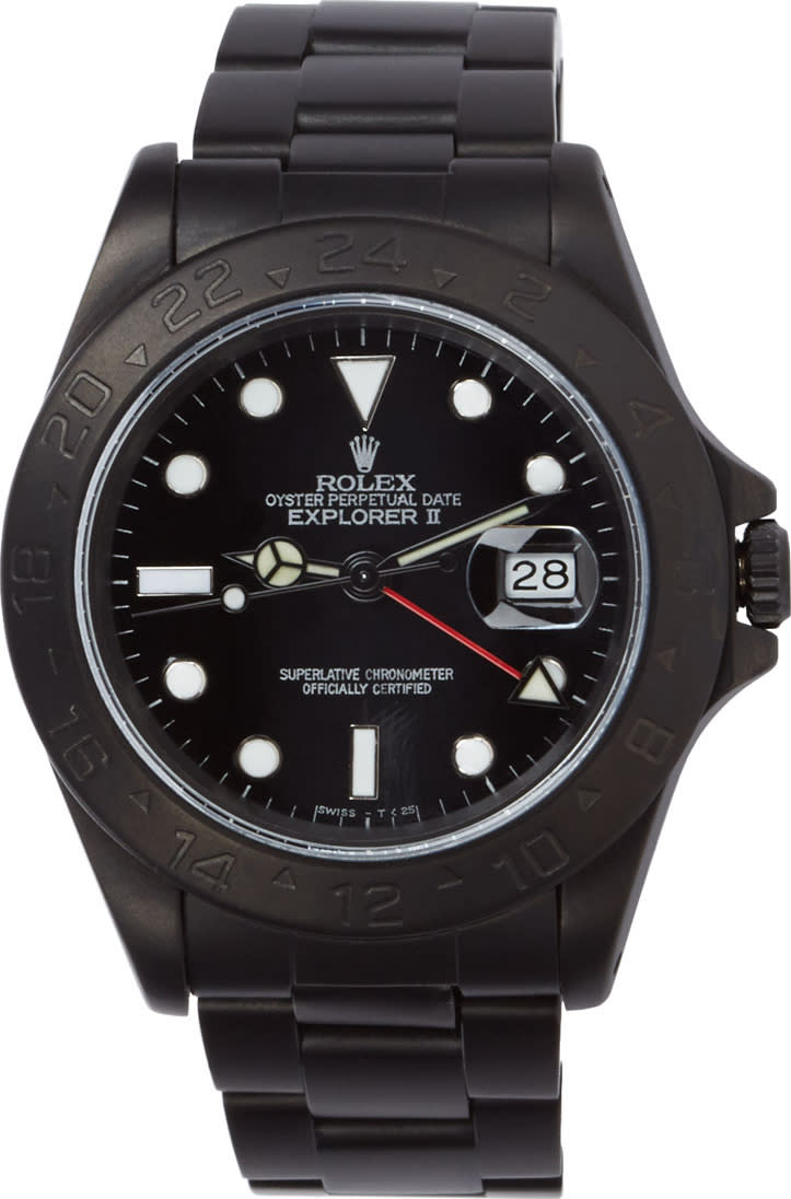 Image of Black Limited Edition Matte Black Limited Edition Rolex Explorer Ii Watch