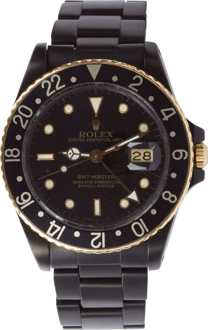 Image of Black Limited Edition Matte Black and Gold Limited Edition Rolex Gmt Master I