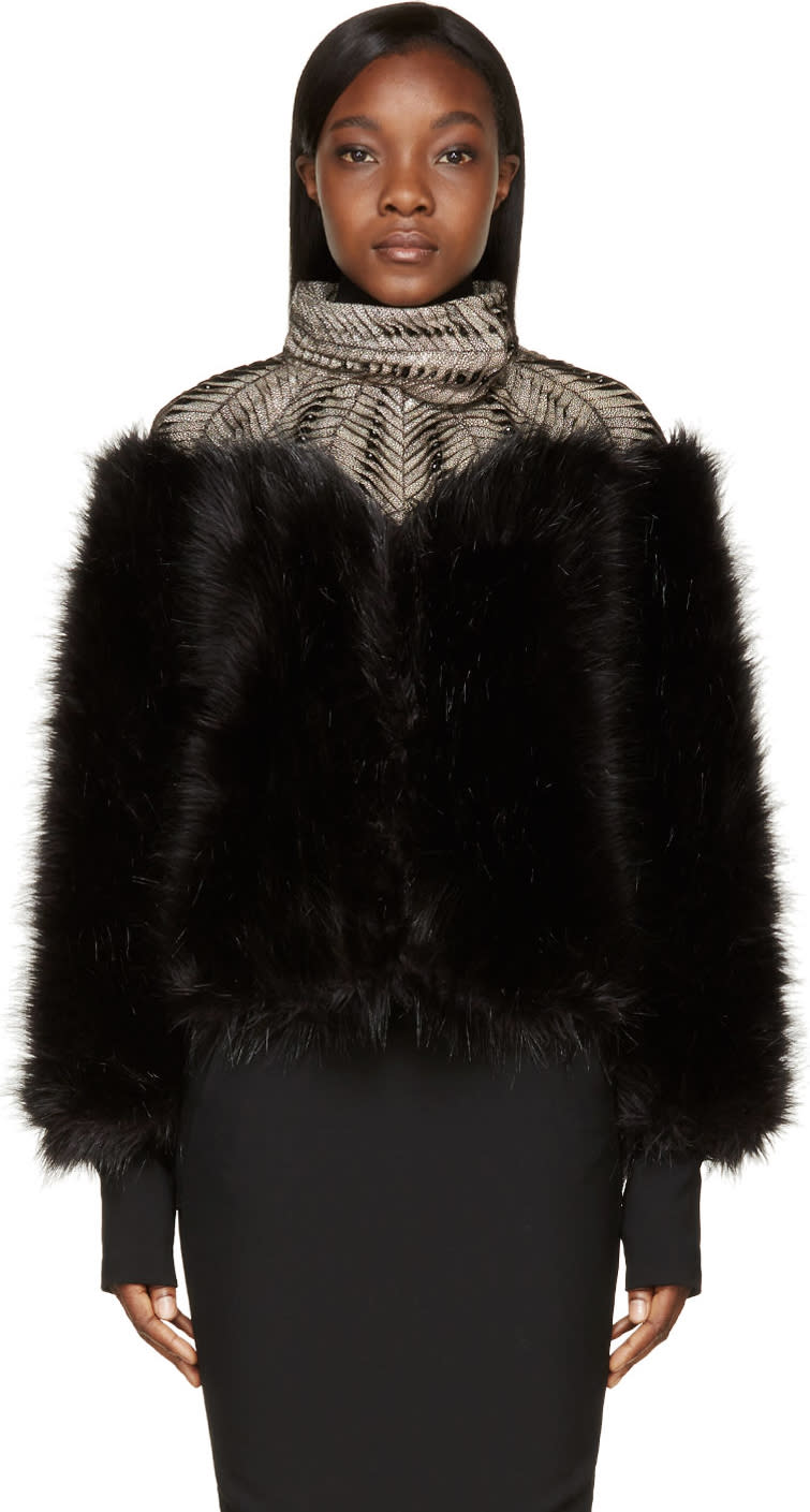 Iris Van Herpen Black Fur Biopiracy Coat