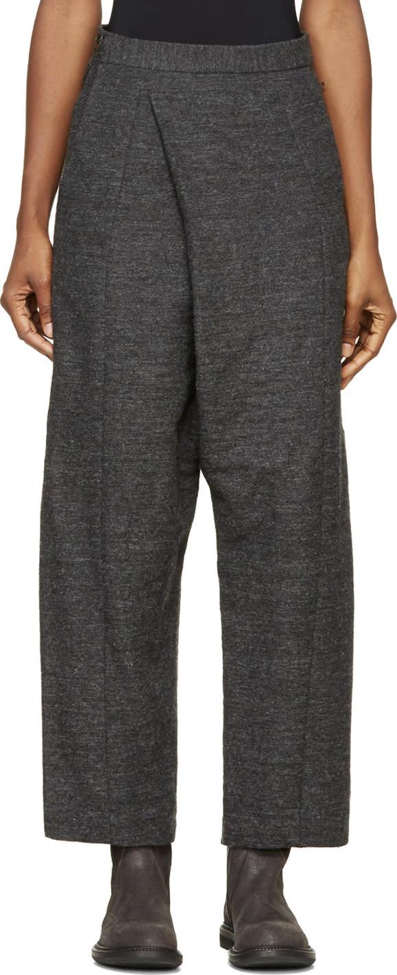 Image of Ma Julius Grey Wool Pleated Sarouels
