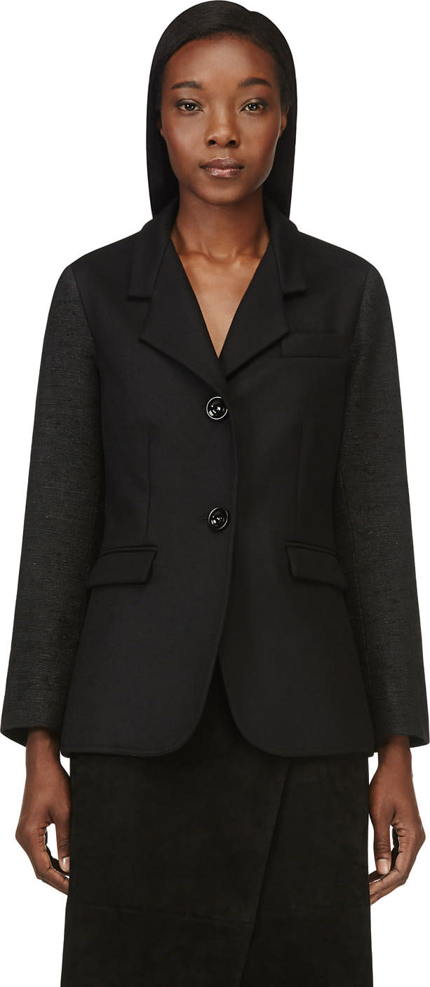 Image of Maiyet Black Contrasting Sleeves Blazer