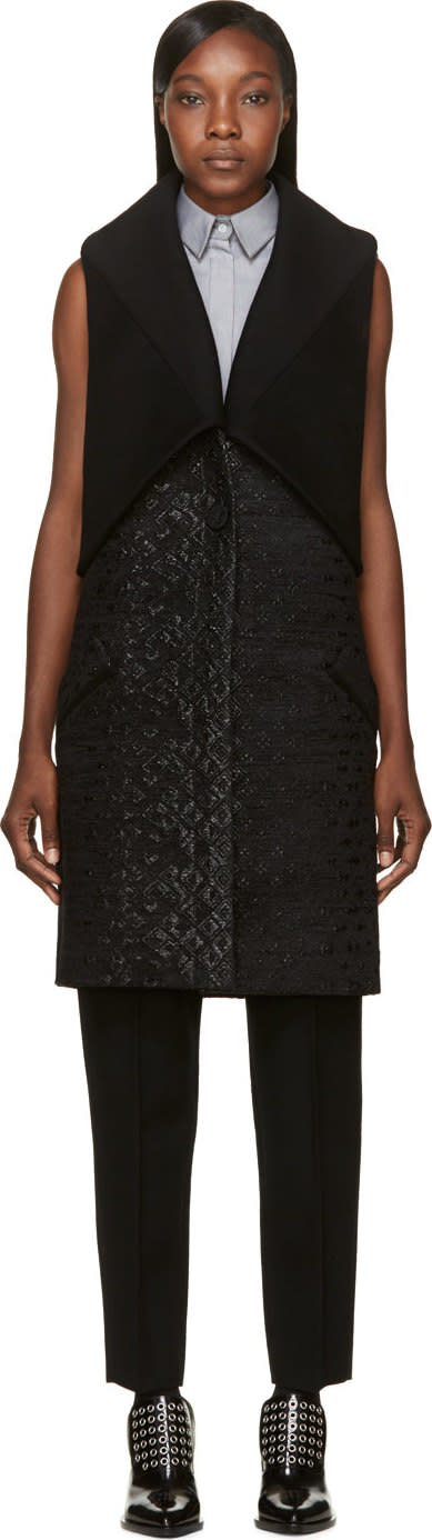Image of Maiyet Black Shawl Overlay Vest