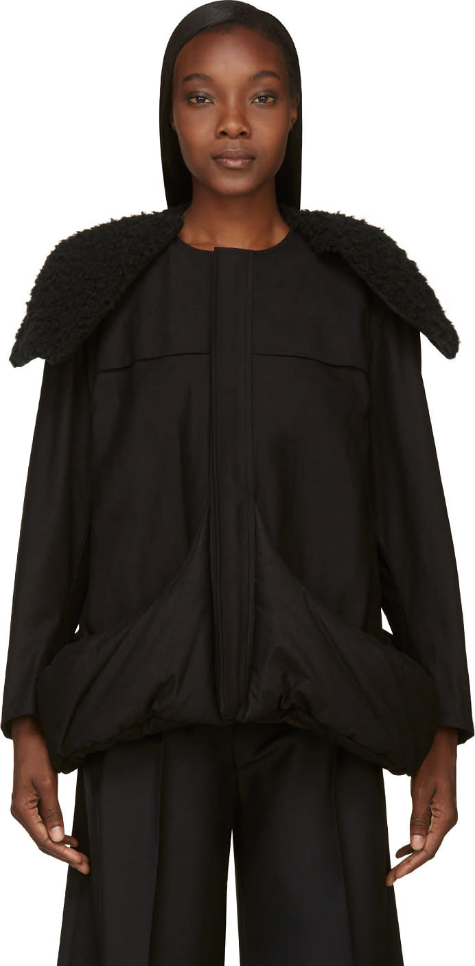 Yohji Yamamoto Black Insulated Pocket Coat