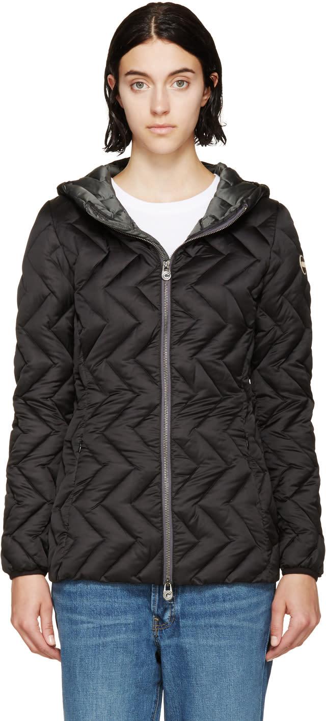 Image of Colmar Black Down Zip-up Jacket