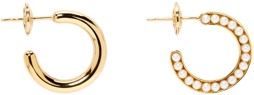 Melanie Georgacopoulos Gold Essence Hoop Earrings