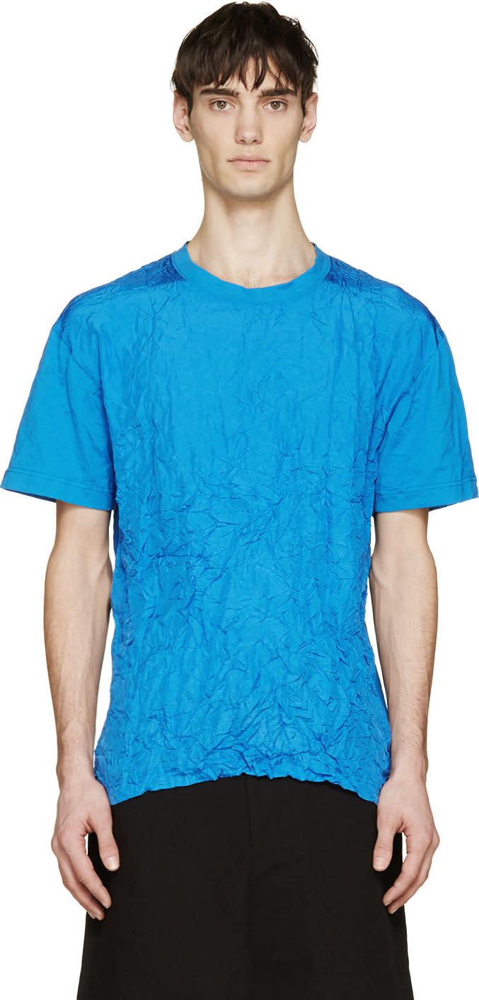 Mcq Alexander Mcqueen Blue Wrinkled T-shirt