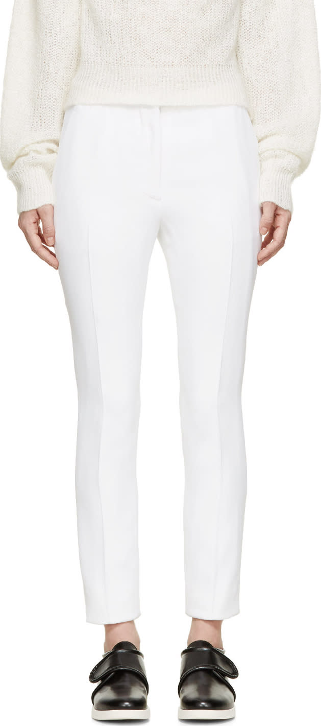 Acne Studios White Elia Crepe Trousers