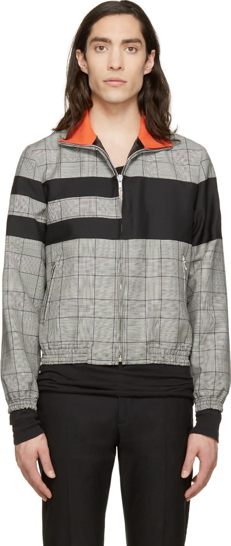Krisvanassche Black Check and Stripe Wool Jacket