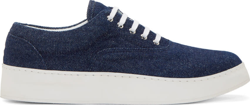 Krisvanassche Indigo Denim Sneakers