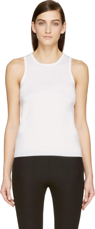 Maison Margiela Ivory Cashmere Sleeveless Sweater