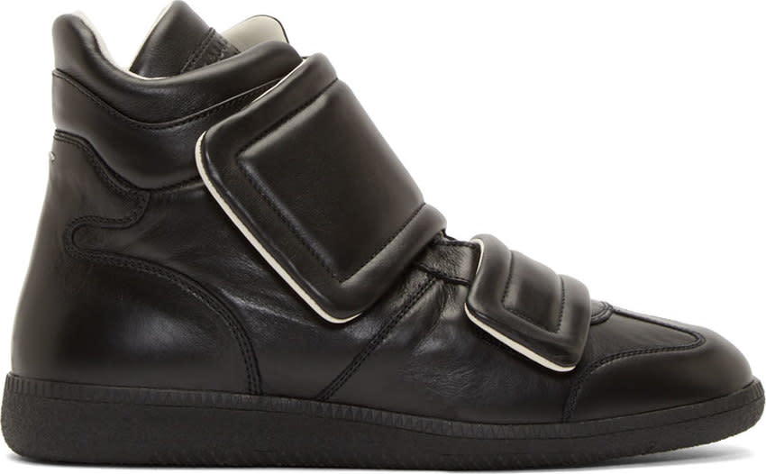 Maison Margiela Black Leather Clinic High-top Sneakers