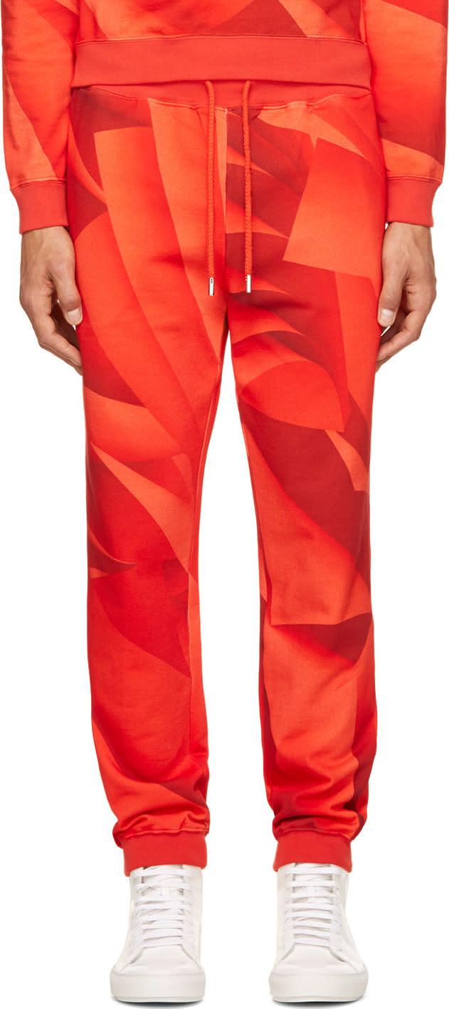 Christopher Kane Red Page Print Lounge Pants