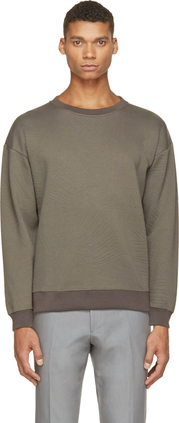 Christopher Kane Grey Embossed Sweatshirt