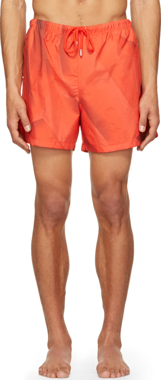 Christopher Kane Red Page Swim Shorts