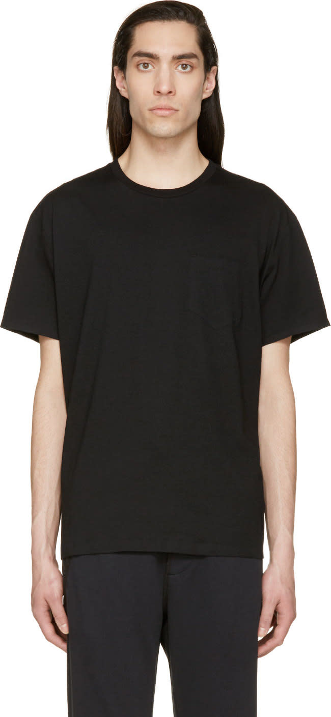 T By Alexander Wang Black Welded Pocket T-shirt